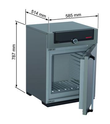 Droogstoof UN 55, 53 l, tot 300°C, zonder ventilator (02180055)
