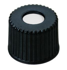 Schroefdop, N8, PP, zwart centrum opening, inlage PTFE (45302402)
