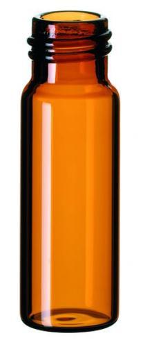 Vials 4 ml, glas 45x14,75 mm bruin, schroefnek N13, vlak (LLG7058142)