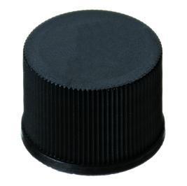 Schroefdoppen PP, 15 mm, zwart dicht, butyl rood/PTFE grijs (LLG7616653)