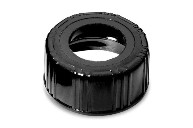 Schroefdop, zwart, voor 10 ml glazen vials (186001421)