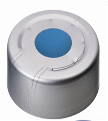 Crimp caps N20, Headspace, sil sil. blauw trans/PTFE trans (41050286)