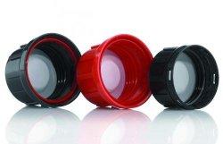 Schroefdop HDPE, GL45, zwart m. garantiering en PTFE inlage (34284183)