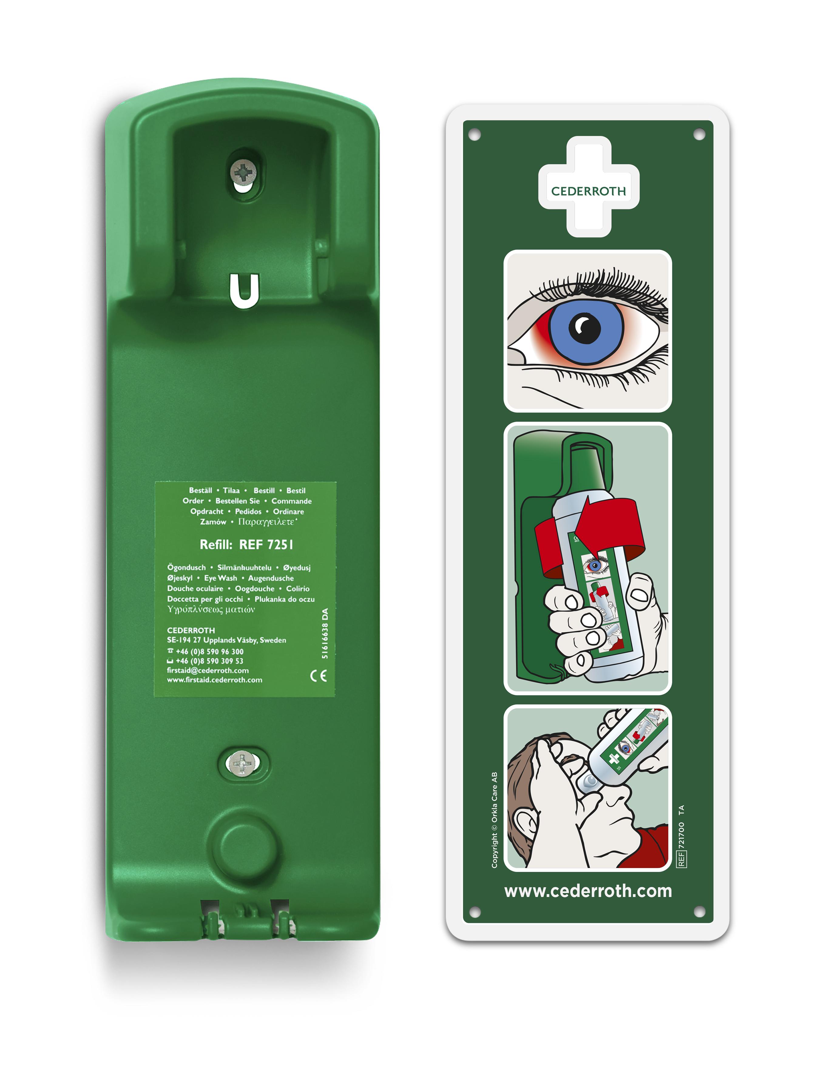 Wandhouder voor oogspoelfles 500 ml (35262)