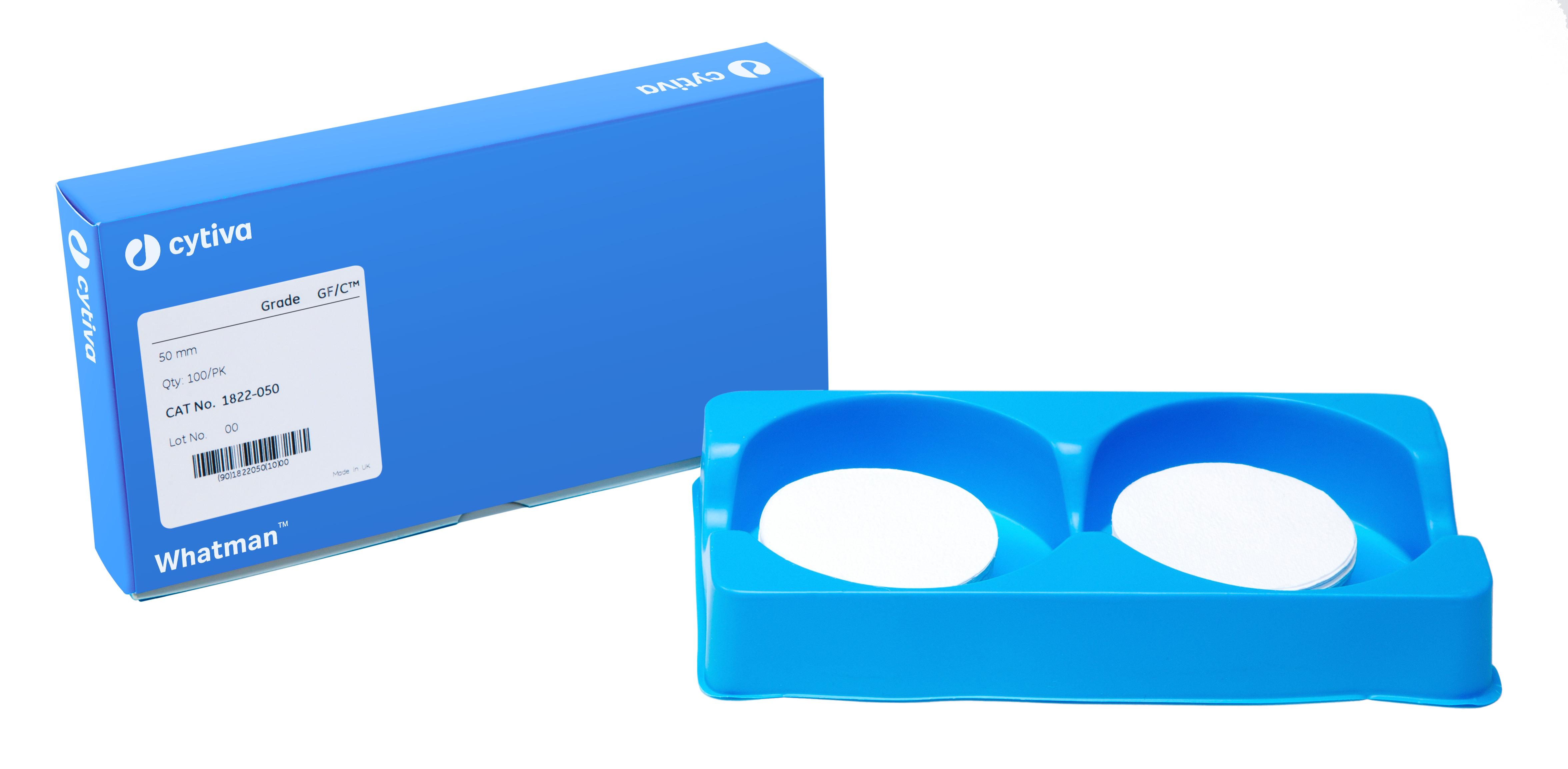 Glasvezelfilters GF/C Ø 47 mm, deeltjesretentie tot 1,2 µm (20903606)