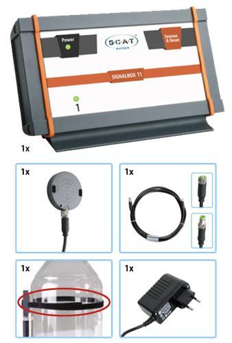 Signaalbox T1 pakket, incl vul sensor, kabel, EU-stekker (42108125)