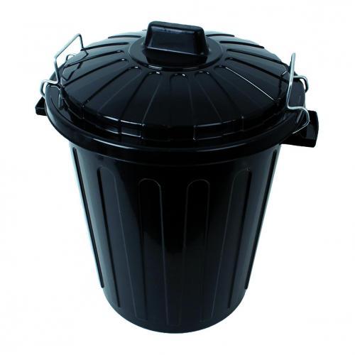 Container 23 l, zwart m.deksel en handvaten Ø 350 x 450 mm (LLG4664542)