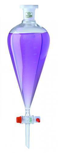 Scheitrechter vlgs. Squibb  50 ml, PTFE-plug, boro. 3.3, m (LLG6236317)