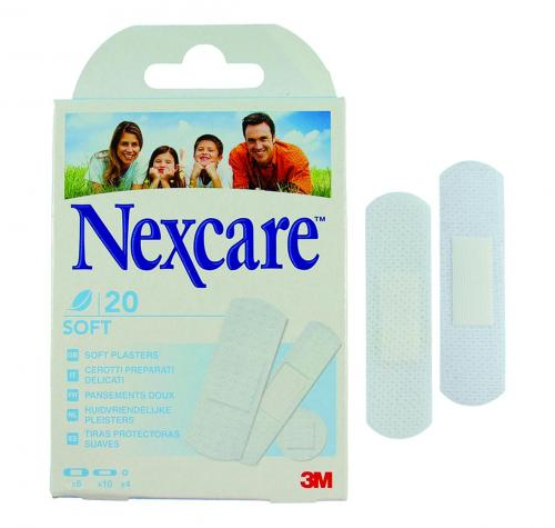 Pleisters Nexcare, 20 strips, water-resistant, 3 maten (LLG6263280)