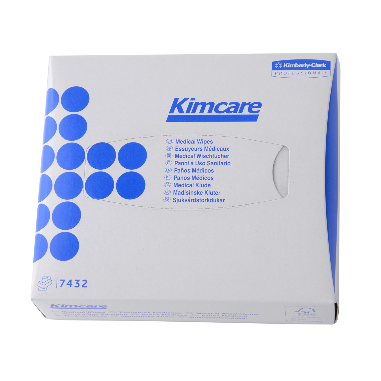 Doek medical wipes i-vouw 2 laags wit 186x108 mm (38507432)