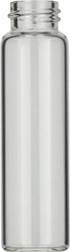 Vials 12 ml, glas 66x18,5 mm helder, schroefnek N15, vlak (45302836)