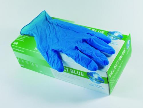 Handschoenen Latex Select Blue M (7-8) niet-steriel poedervri (LLG7624168)