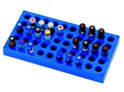 Rek PP, voor vials 1,5 ml, 50 vakken, blauw (LLG7970861)
