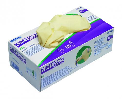 Handschoenen kimtech latex PFE poedervrij XS (LLG9005405)