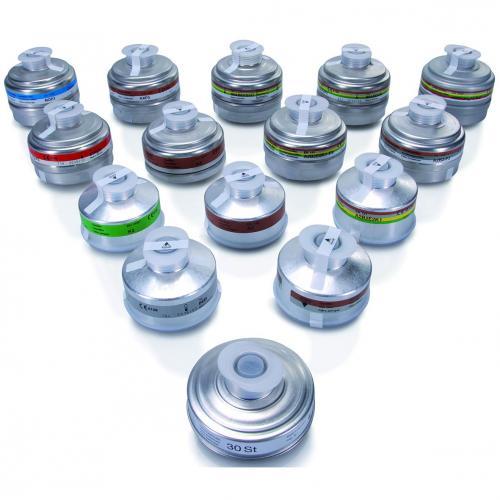 A2 P2 R D Combinatiefilter voor Ademhalingsschroeffilters voor volgelaatsmasker BRK 820