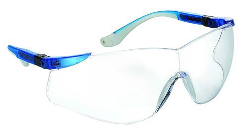 LLG veiligheidsbril blauw 100% UV bescherming (41006012)