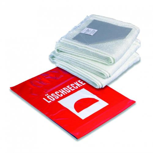 Branddeken 1800X1600 in rode  kunststof draagtas DIN EN1869 (LLG9006902)