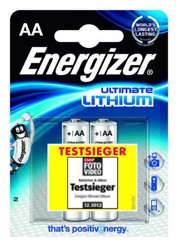 Batterien, Lithium Rundzellen Energizer 1,5