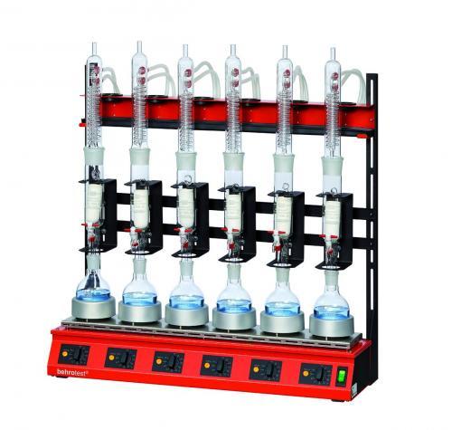 Serie-extractieapparaten voor Soxhlet-/vetextractie R R 606 voor 6 monsters