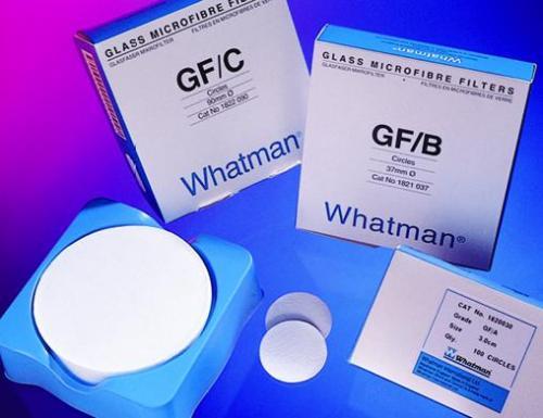 Glasvezelfilters GF/C Ø 110 mm , deeltjesretentie tot 1,2 µm (20903612)