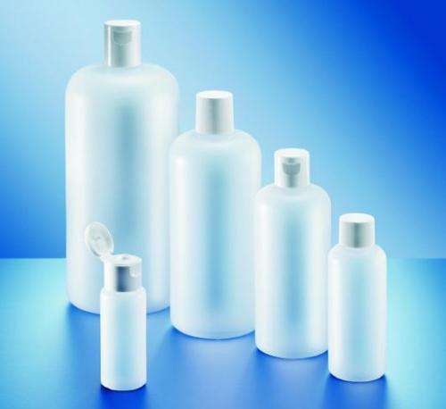 Fles 250 ml HDPE, rond, Ø 22 mm z. dop (LLG9072785)