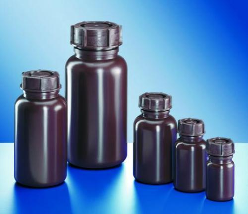 Fles 50 ml LDPE, WM rond, bruin, Ø 32 mm, z. dop (LLG9073681)