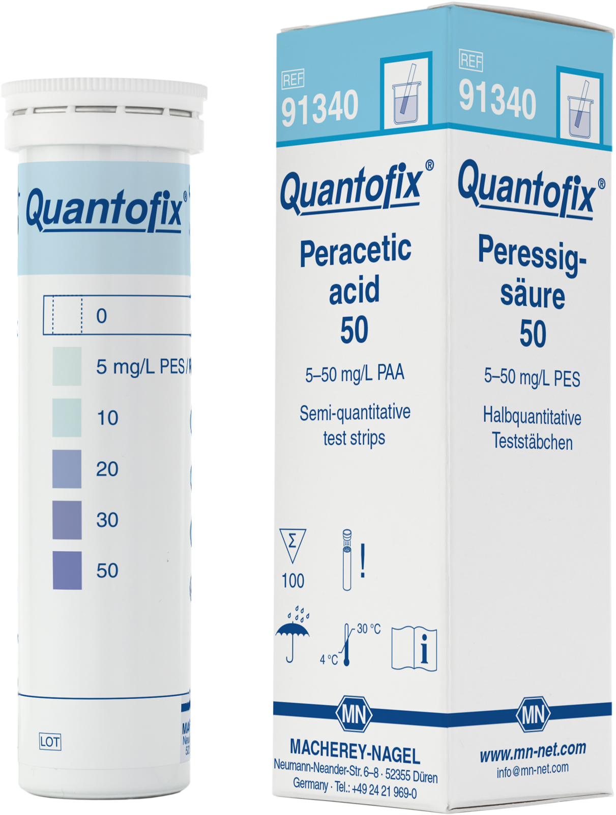 Quantofix Perazijnzuur 0 - 50 mg/l (91091340.0001)