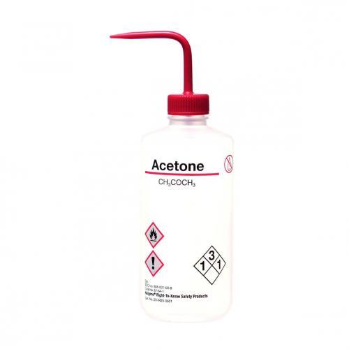 Spuitfles 500 ml, LDPE, NM, Aceton, rode dop (33707206)