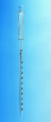 Zuigermeetpipet, A, 25:0,1 ml, bruine graduering, L = 520 mm (40114243)