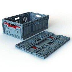 Vouwkrat Maxi 31 l, grijs 600 x 400 x 150 mm, PP (LLG9301494)