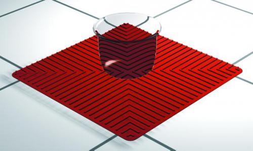 Antislipmat 250x250 mm siliconen, tot 260°C, rood (LLG9390090)
