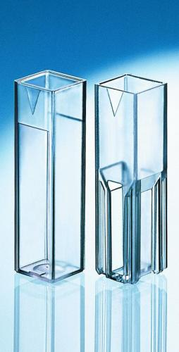 Macrokuvetten, PS, 4 opt. ven- sters, 2,5-4,5 ml, 340-900 nm (33659035)