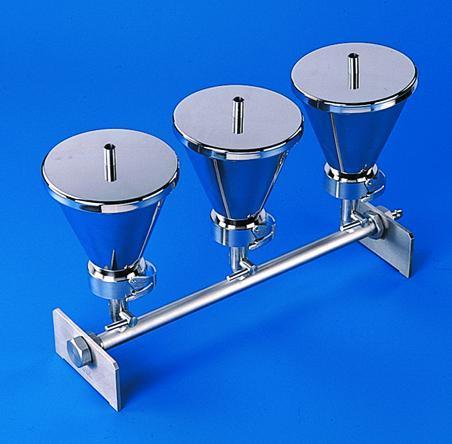 Filter verdeelsysteem, 3x, RVS 500 ml, voor 47/50 mm filters (20637100)