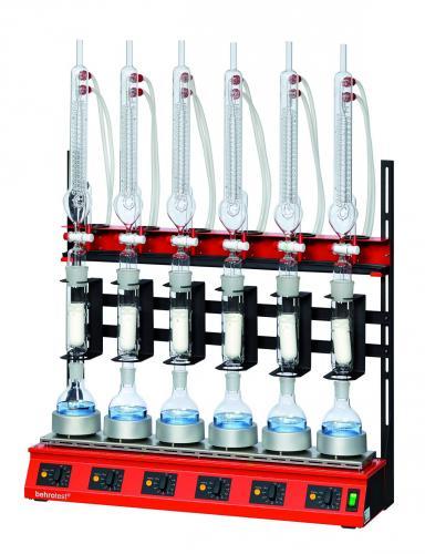 R 106 T voor 6 plaatsen incl. platbodemkolven 250 ml voor Serie-extractieapparaten voor extractie vlgs. Twisselmann