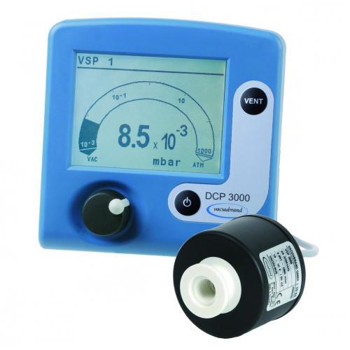Vacuümmeetapparatenset DCP 3000 + VSP 3000 voor Vacuümmeter DC 3000 met Pirani-sensor VSP 3000