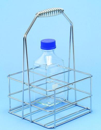 Flessendrager, 4x500 ml vierkante flessen, PE, wit (LLG9908115)