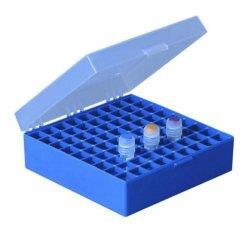 Cryobox PP, 133x133x52 mm Temp. best. -90 - +121°C blauw (LLG9405898)