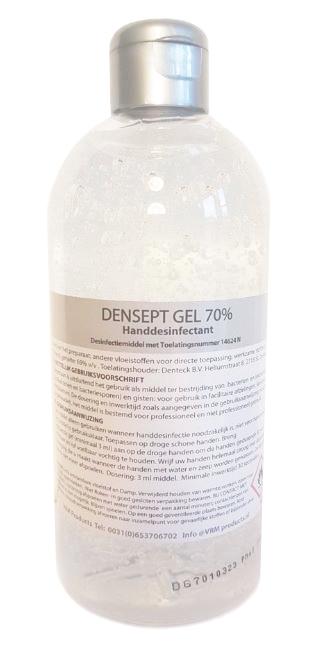 Desinfecterende alcoholgel, handgel, m. klikdop CTGB 14624 (77051121.0500)