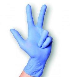 Handschoenen, nitril, maat M  lavendel blauw