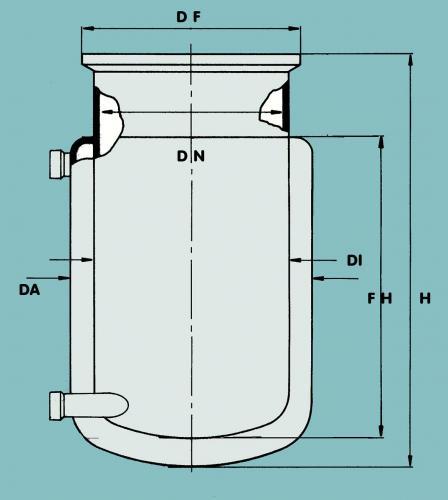 Reactievat, 2000ml, DN120   (LLG9142018)