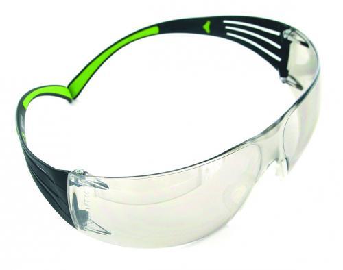 Veiligheidsbril SecureFit 400 PC grijs, frame zwart/groen (LLG9006133)