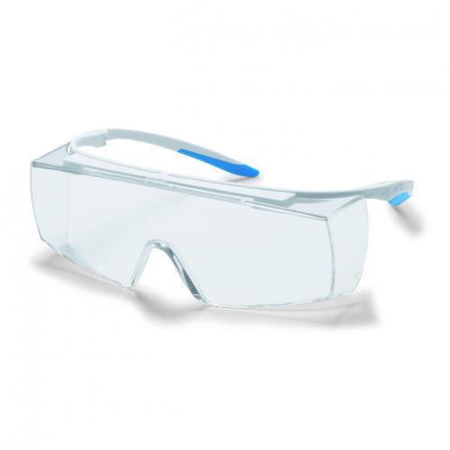 Veiligheidsbril super f OTG CR kleur wit/blauw, UV400 (15369500)