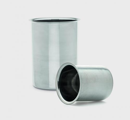 Beker 500 ml, RVS, laagmodel met rand (LLG6286611)