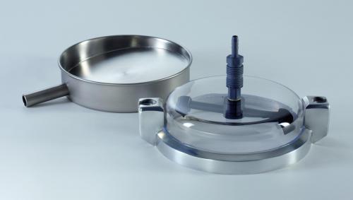 Tussenzeefpan van roestvaststaal,, Ø 200 mm, 50 mm hoog voor Analysette 3 Pro en Spartan