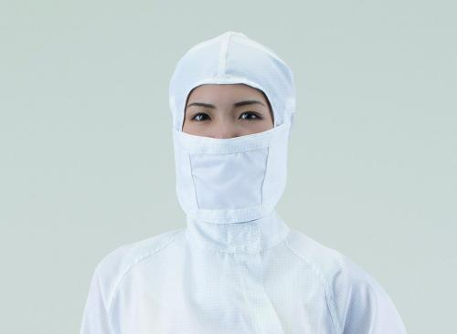 Masker Kleur wit voor Cleanroommutsen en -maskers