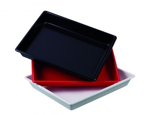 Fotografische tray 320x370x50 PVC, zwart, zonder ribbels (33206432)