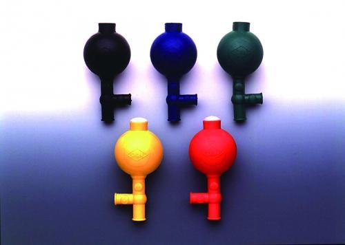 Veiligheidspipetteerbal flip rubber, groen (17090021)