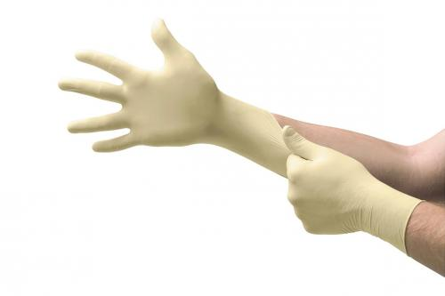 Handschoenen Latex M (7,5-8), poedervrij, 240mm Touch N Tuff (38063494)