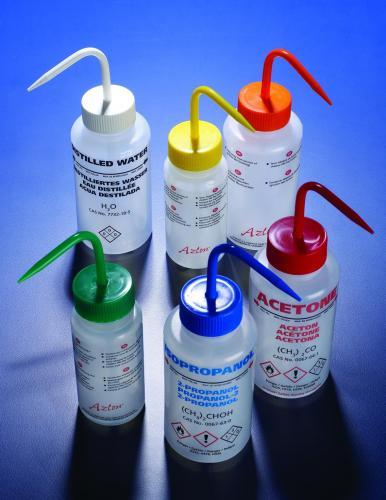Spuitfles 250 ml, LDPE, Aceton rode dop, UK/FR/D/ES (WGW531PML)