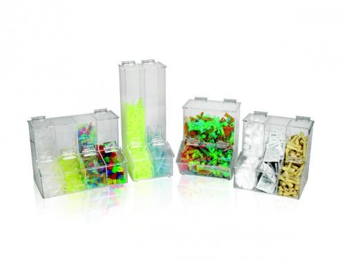 Dispenser voor pipettips 3-ladig, 217x170x217 mm (33823403)